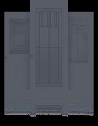 высокие входные двери для дома
