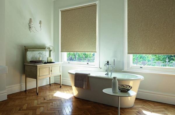 Рулонные шторы, ванная