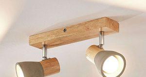 Деревянный LED светильник