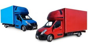 Красная и синяя машина