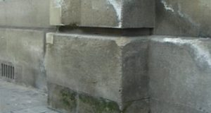 Разрушение камня дома солью